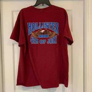 2005 Hollister Calif July 4th Motorcycle Rally Tee